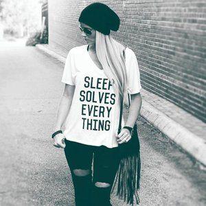 Sleep Solves Everything T-Shirt or Sleep Shirt